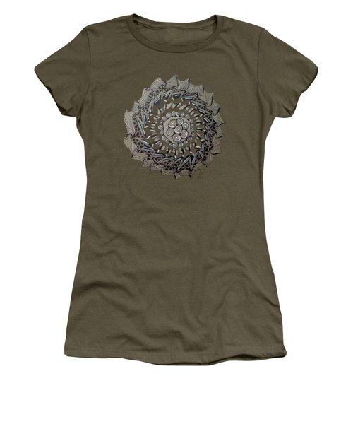 Zentangle Shield  Women's T-Shirt (Junior Cut) by Joyce Wasser