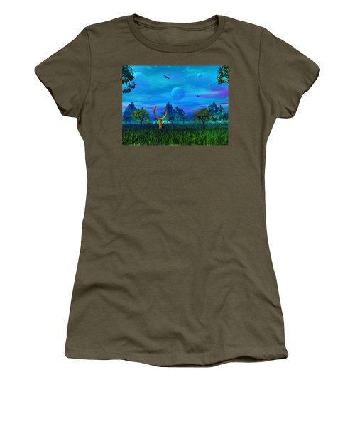 Women's T-Shirt (Athletic Fit) featuring the photograph Zhahnjroom by Mark Blauhoefer