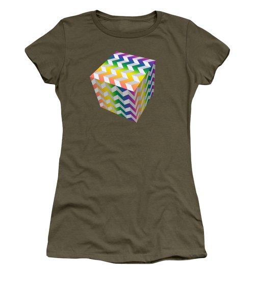 Zig Zag Cube Women's T-Shirt (Athletic Fit)