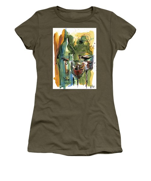 Women's T-Shirt (Junior Cut) featuring the painting Zin-findel by Robert Joyner