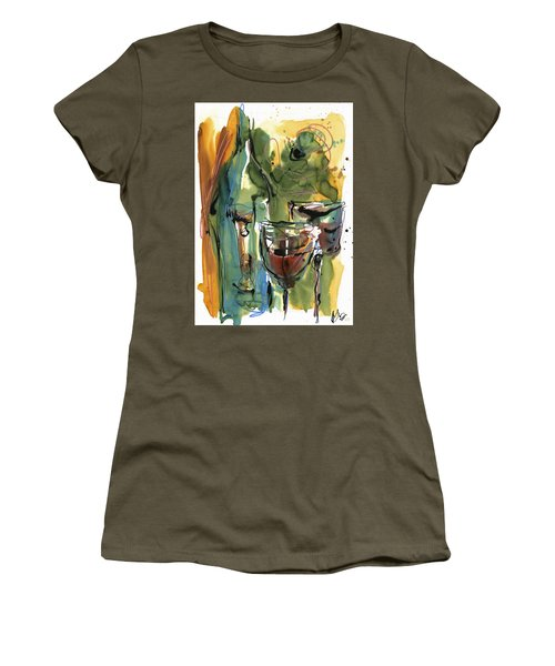 Women's T-Shirt (Junior Cut) featuring the painting Zin-findel by Robert Joyner