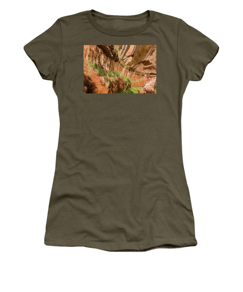 Women's T-Shirt featuring the photograph Zion--lower Emerald Pools Trail by PJ Boylan