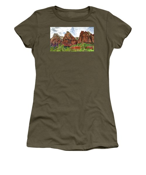 Zion N P # 41 - Court Of The Patriarchs Women's T-Shirt (Athletic Fit)