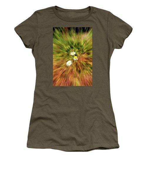 Women's T-Shirt (Junior Cut) featuring the digital art Zooming In Or Zooming Out by James Steele