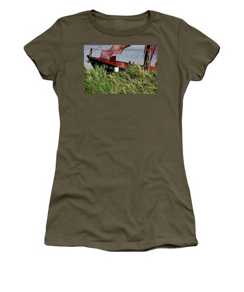 Women's T-Shirt (Junior Cut) featuring the photograph Zuiderzee Boat by KG Thienemann