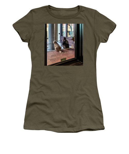 018 - Girl And Dog Women's T-Shirt