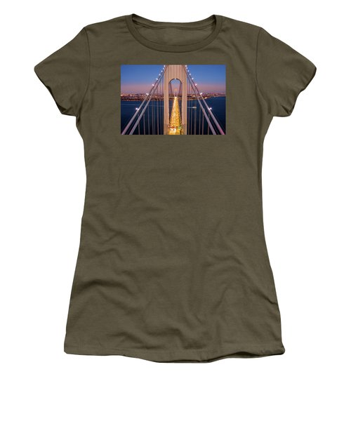 Aerial View Of Verrazzano Narrows Bridge Women's T-Shirt