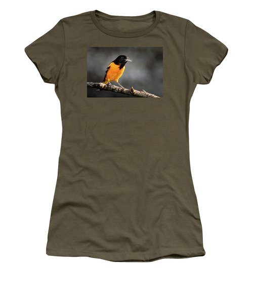 Women's T-Shirt featuring the photograph Baltimore Oriole  by Allin Sorenson