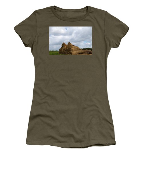 Women's T-Shirt featuring the photograph Bound Reeds  by Anjo Ten Kate