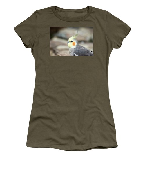 Women's T-Shirt featuring the photograph Close Up Of A Cockatiel by Rob D Imagery