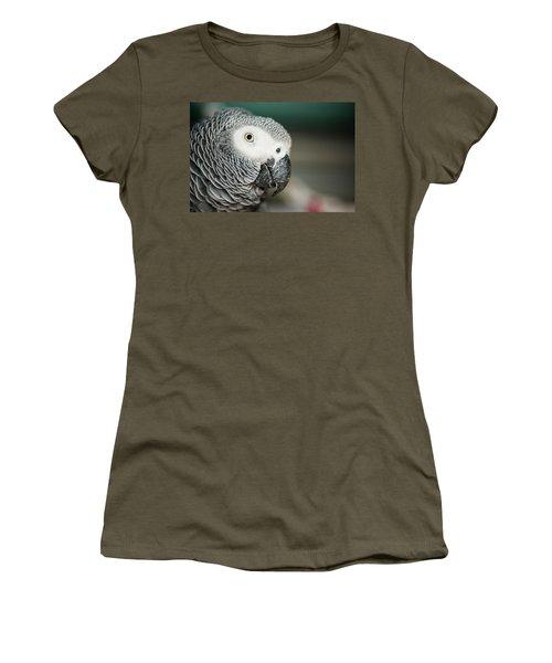 Close Up Of An African Grey Parrot Women's T-Shirt