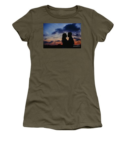 Couple With Cloud Sky Backlight Women's T-Shirt