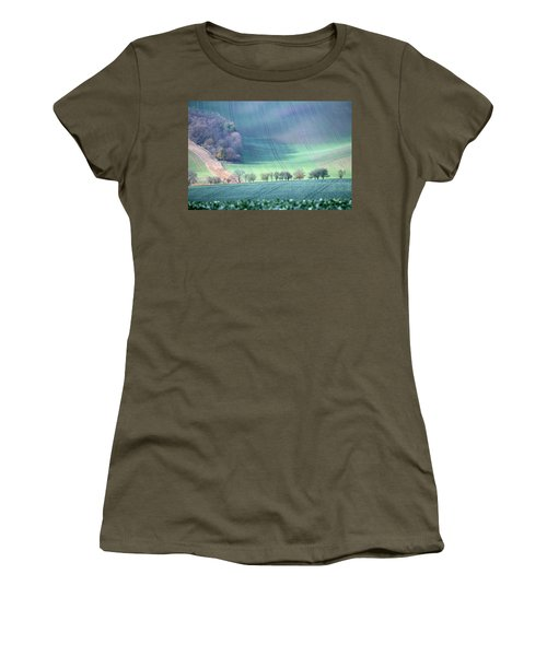 Women's T-Shirt featuring the photograph Autumn In South Moravia 1 by Dubi Roman