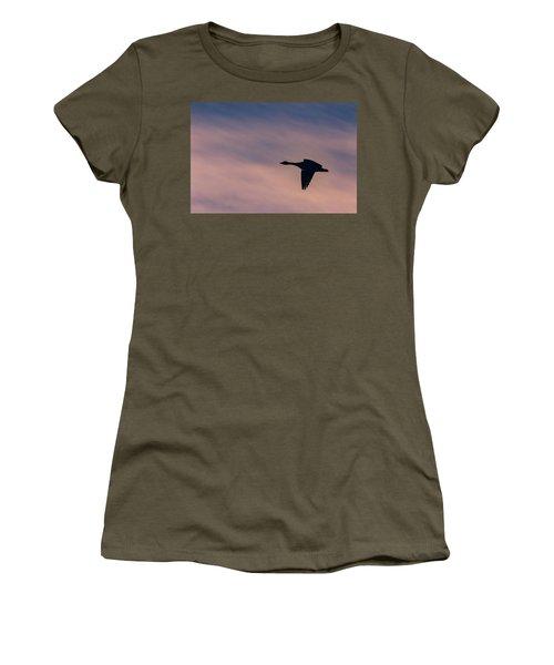Women's T-Shirt featuring the photograph Evening Flight by Allin Sorenson
