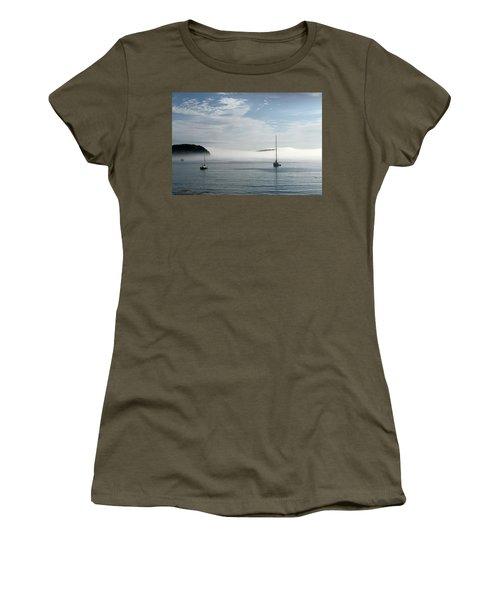 Morning Mist On Frenchman's Bay Women's T-Shirt