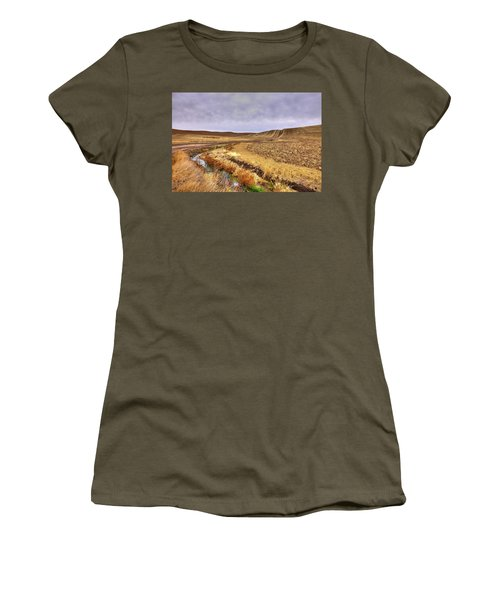 Women's T-Shirt featuring the photograph Plowed Under by David Patterson