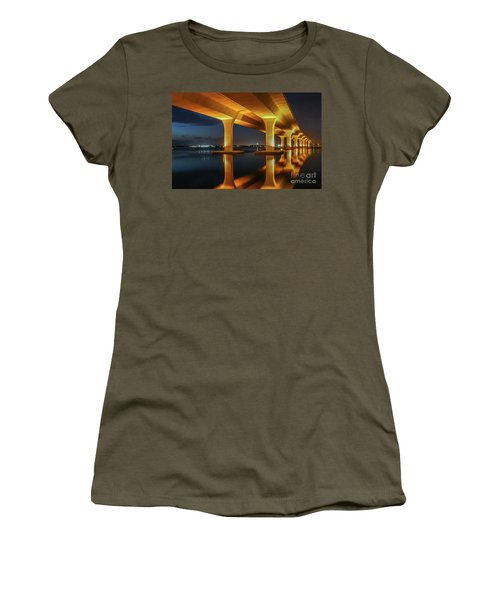 Women's T-Shirt featuring the photograph Roosevelt Reflection by Tom Claud