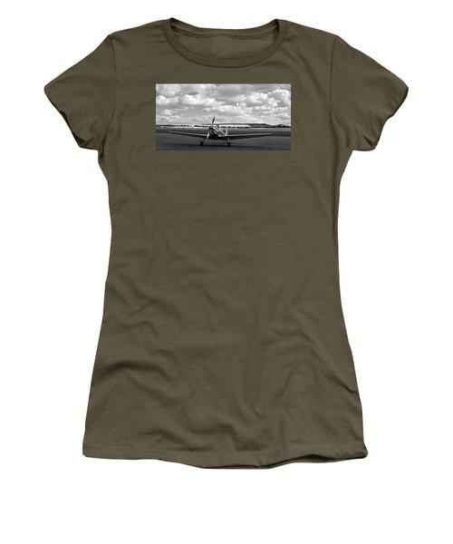 Silver Airplane Duxford England Women's T-Shirt