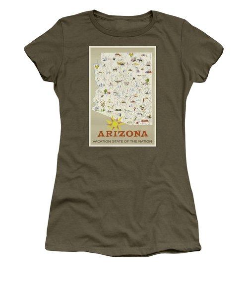 Vintage Travel Poster - Arizona Women's T-Shirt