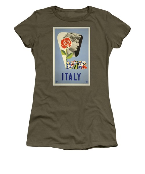 Vintage Travel Poster - Italy Women's T-Shirt