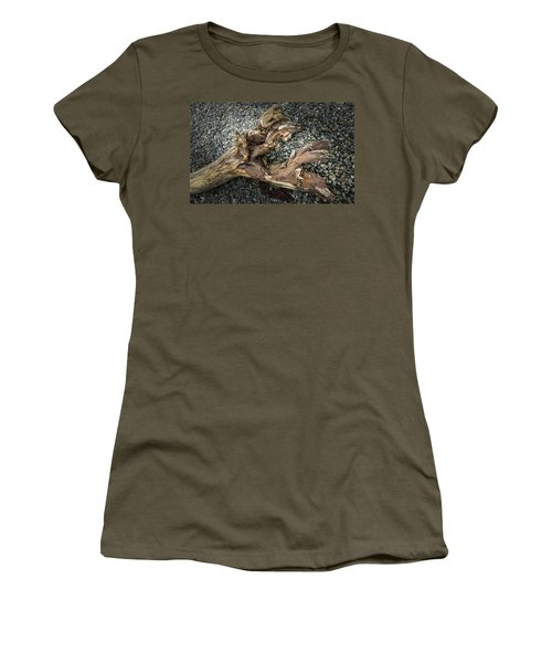 Women's T-Shirt featuring the photograph Wood Log In Nature No.39 by Juan Contreras