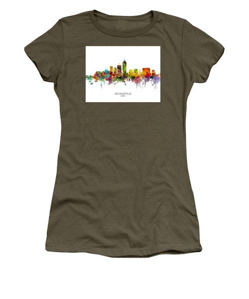 Indianapolis Indiana Skyline Women's T-Shirt