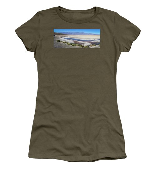 Women's T-Shirt featuring the photograph Badwater Basin Death Valley National Park California by Alex Grichenko
