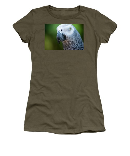 Women's T-Shirt featuring the photograph African Grey Parrot by Rob D Imagery