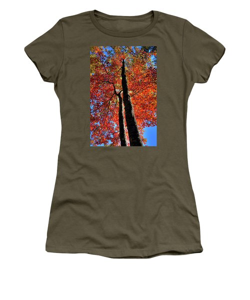Women's T-Shirt featuring the photograph Autumn Reds by David Patterson