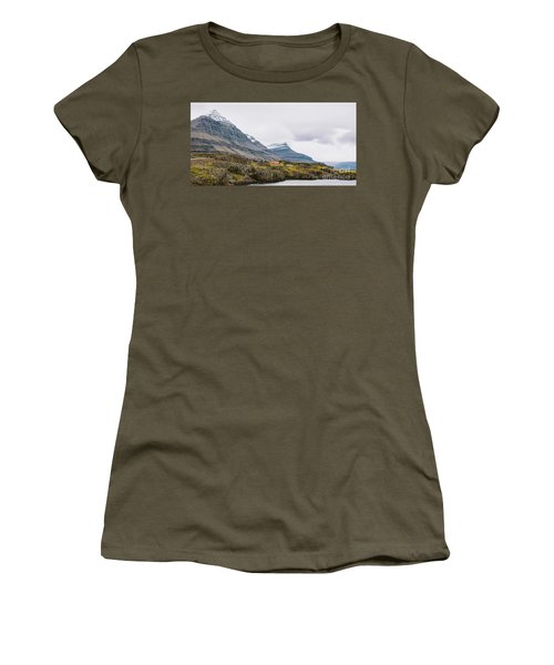 High Icelandic Or Scottish Mountain Landscape With High Peaks And Dramatic Colors Women's T-Shirt