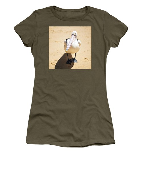 Women's T-Shirt featuring the photograph Pelican During The Day by Rob D Imagery