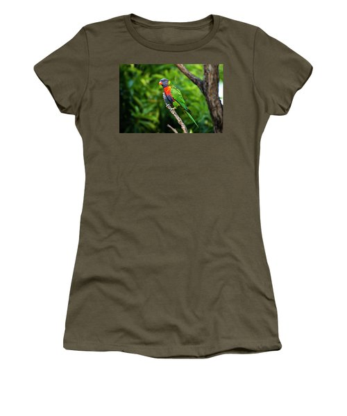 Women's T-Shirt featuring the photograph Rainbow Lorikeet by Rob D Imagery