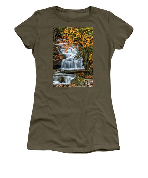 Waterfall And Fall Color Women's T-Shirt