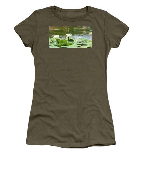 2 White Water Lilies Women's T-Shirt
