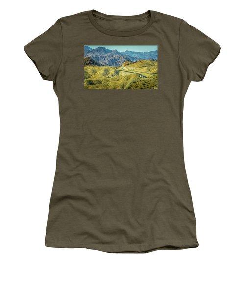 Women's T-Shirt featuring the photograph Red Rock Canyon Landscape Near Las Vegas Nevada by Alex Grichenko