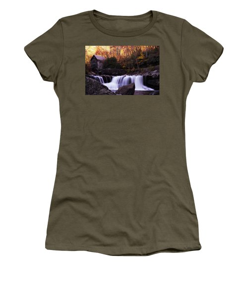 Women's T-Shirt (Athletic Fit) featuring the photograph Glade Creek Grist Mill  by Pete Federico