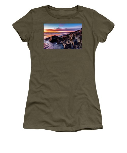 Rock Formations On The Beach Women's T-Shirt