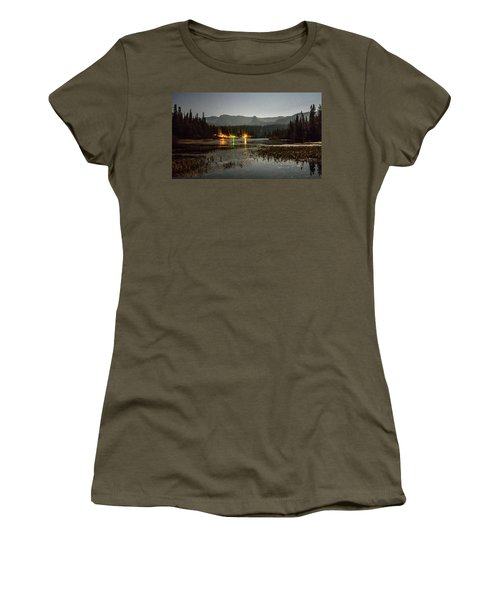 Women's T-Shirt featuring the photograph Sierra National Park Mountains Near Mammoth Lakes Californit by Alex Grichenko