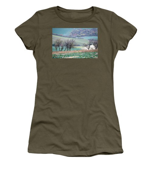 Women's T-Shirt featuring the photograph Autumn In South Moravia 8 by Dubi Roman