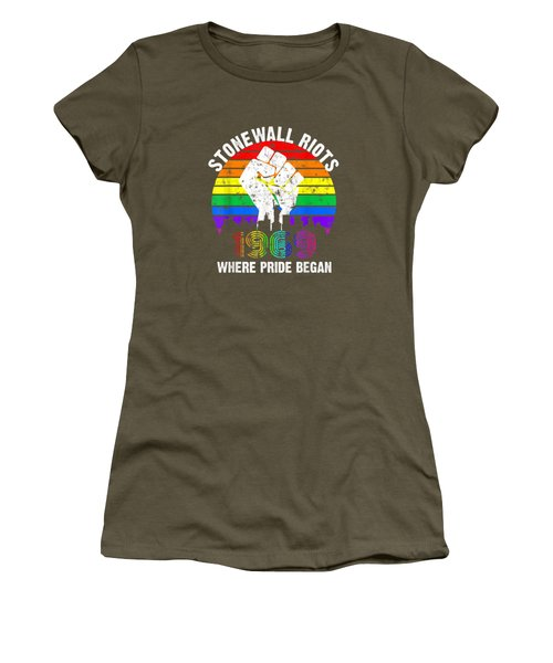 90's Style Stonewall Riots 50th Nyc Gay Pride Lgbtq Rights  T-shirt Women's T-Shirt