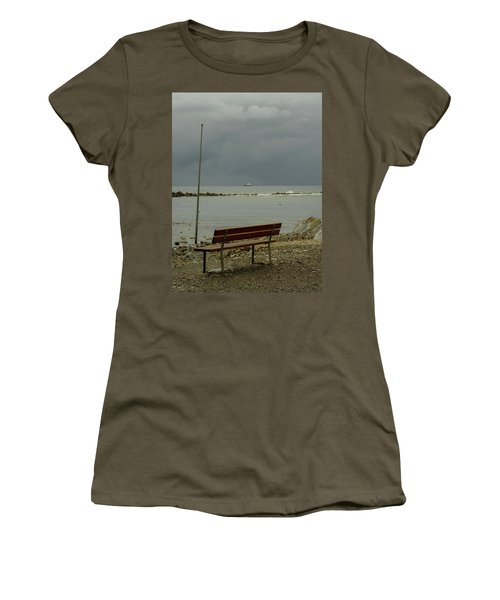 A Bench On Which To Expect, By The Sea Women's T-Shirt