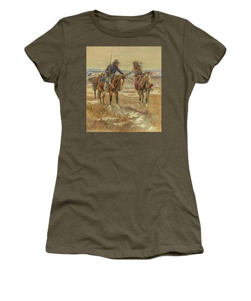 A Doubtful Handshake Women's T-Shirt