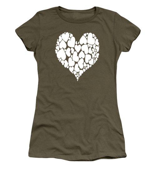A Heart Full Of Love Romantic Pattern Women's T-Shirt