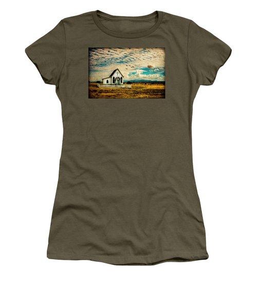 A Lone Prairie Church Women's T-Shirt
