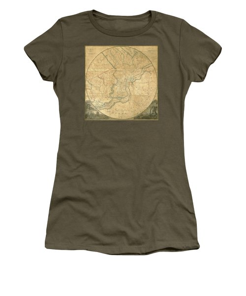 A Plan Of The City Of Philadelphia And Environs, 1808-1811 Women's T-Shirt