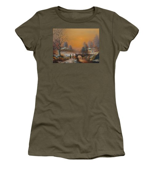 A Winters Tale Snow Arrives In The Shire Women's T-Shirt