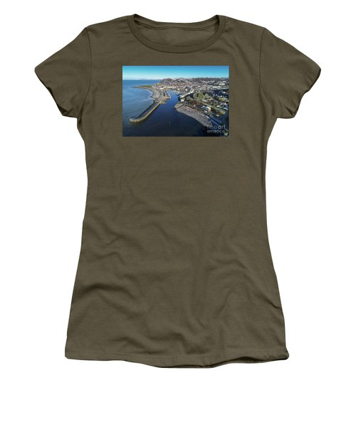 Aberystwyth Harbour From The Air In Winter Women's T-Shirt