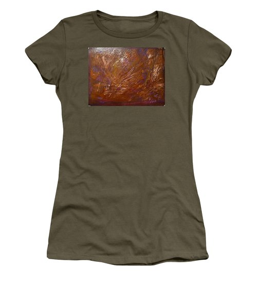 Abstract Brown Feathers Women's T-Shirt