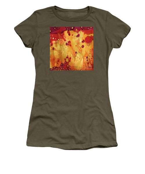 Women's T-Shirt featuring the painting Abstract Ink 27 by Amy E Fraser