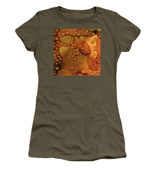 Women's T-Shirt featuring the painting Abstract Ink 29 by Amy E Fraser